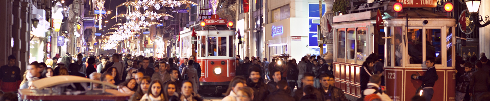 Istanbul Istiklal street and its historical Tramways……
